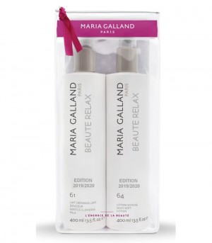 Maria Galland COFFRET DUO 2 X400 ML LAIT DEMAQUILLANT DOUCEUR N°61 + LOTION SOYEUSE N°64   Latte e Lozione struccante